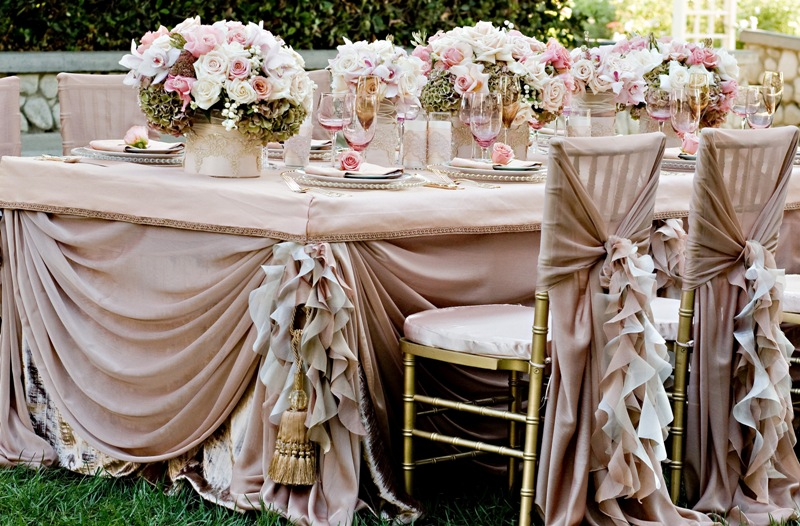 Свадьба с декором на природе
